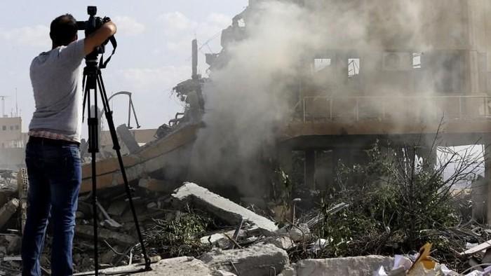 Situasi di Suriah usai diserang AS/Foto: (LOUAI BESHARA/AFP).