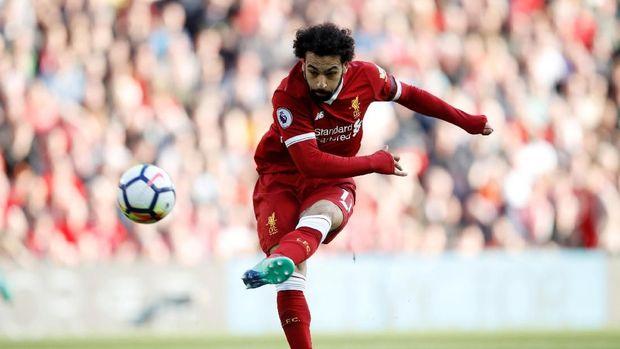 Mohamed Salah mencetak 40 gol untuk Liverpool musim ini.