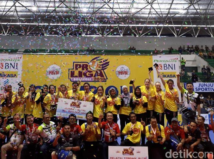Jakarta Pertamina Energi Juara Proliga 2018. (Foto: Rifqi Ardita/Detikcom)