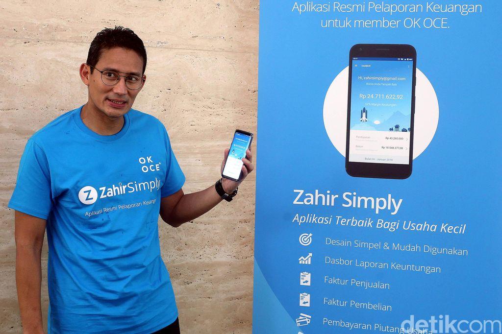 Sandiaga Uno meluncurkan aplikasi tersebut di Jakarta.