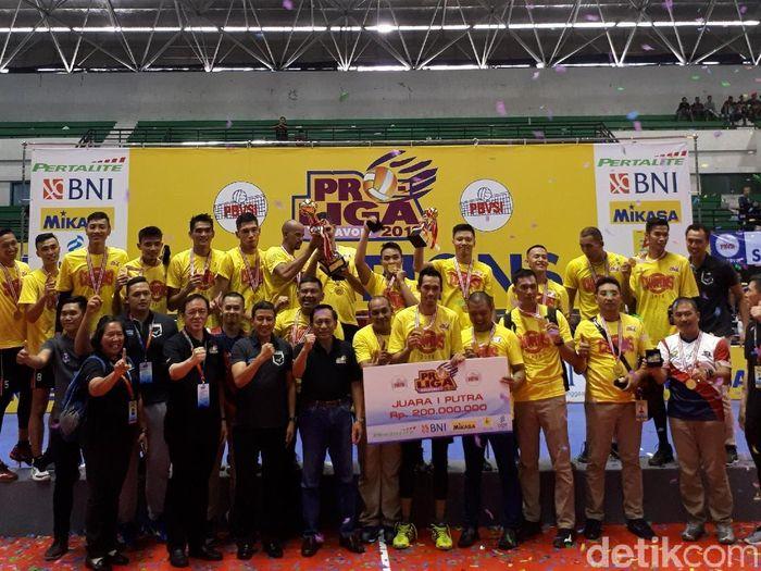 Surabaya Bhayangkara Samator juara Proliga 2018. (Foto: Rifqi Ardita/Detikcom)