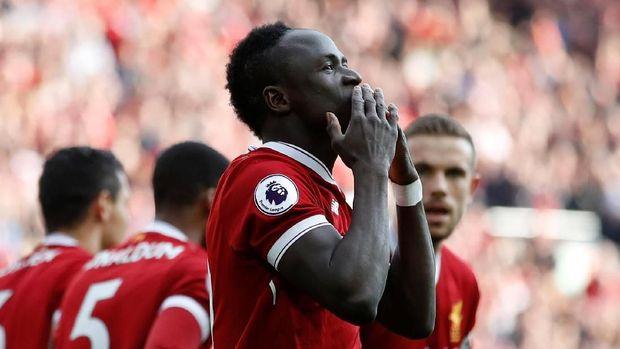 Sadio Mane mencetak gol pertama untuk Liverpool di laga lawan Bournemouth.