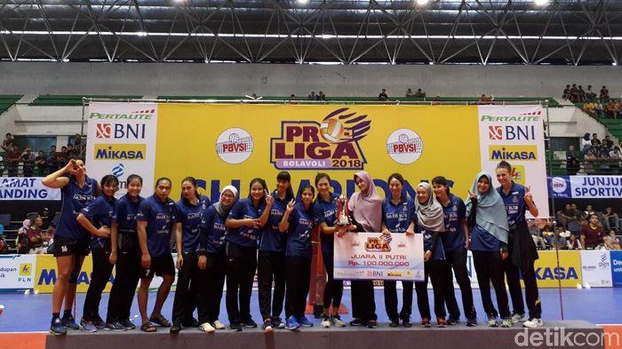 Bandung Bank BJB Pakuan di Proliga 2018. (Foto: Rifqi Ardita/Detikcom)