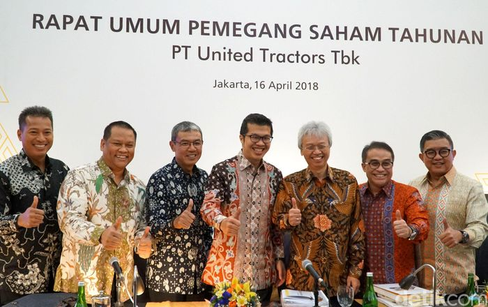 PT United Tractors Tbk menggelar RUPST di Grand Ballroom United Tractors, Jakarta, Senin (16/4/18).