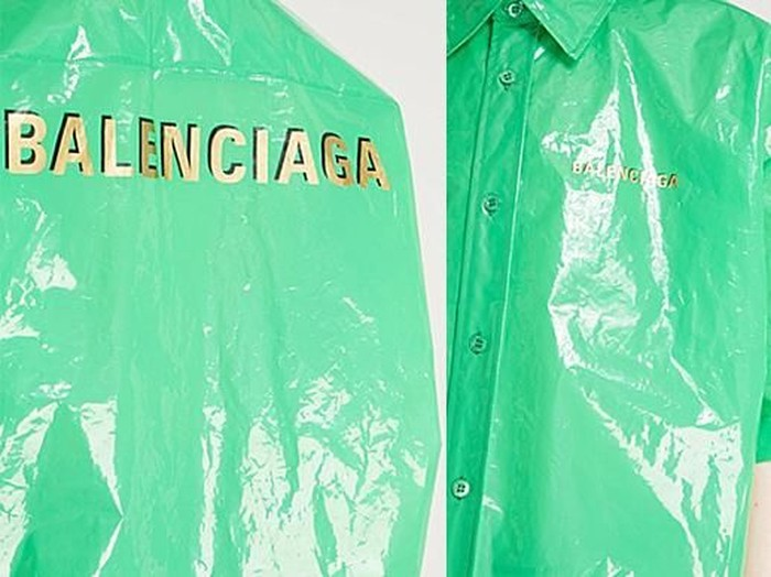Kemeja Balenciaga yang disebut mirip kantong plastik sampah. Foto: Dok. Selfridges