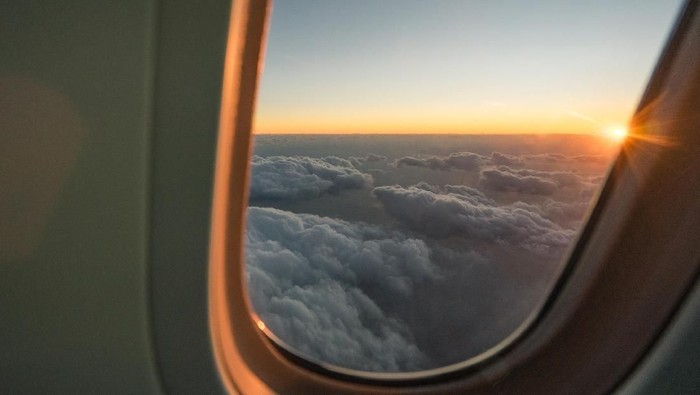 Sunset on The Airplane in Japan