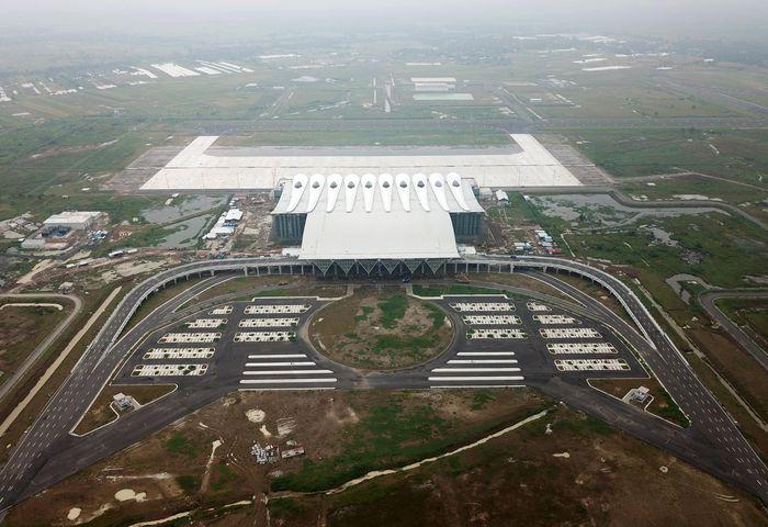 Bandara ini berdiri di atas lahan seluas 1.800 hektar. Saat ini sudah 1.000 hektar tanah terpakai di tahap pertama. Foto: dok. BIJB