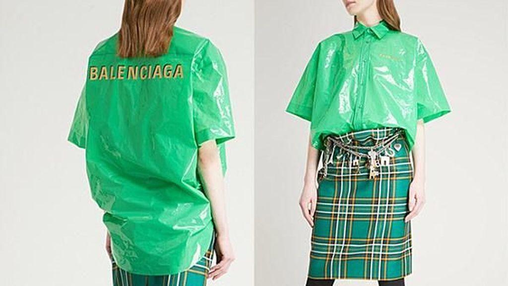 Kemeja Balenciaga Disebut Mirip Kantong Plastik Sampah, Dijual Rp 10 juta