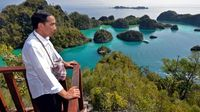 Presiden Jokowi yang juga pernah mengunjungi Pianemo (Biro Pers Setpres/Agus Suparto)