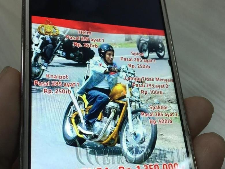 Meme Jokowi Foto: Meme Jokowi saat touring dengan chopper yang viral/Istimewa