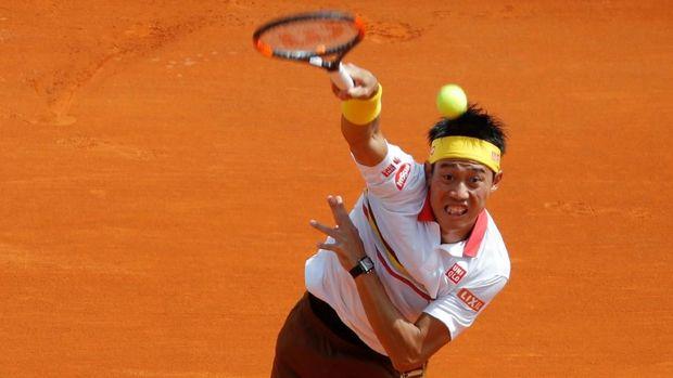 Kei Nishikori mengalahkan Tomas Berdych di babak pertama.