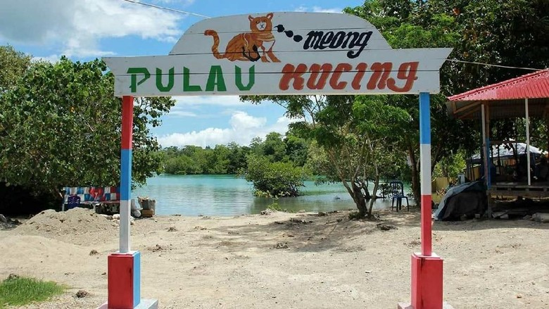Foto: Pulau Kucing di Kepulauan Sula (Randy/detikTravel)