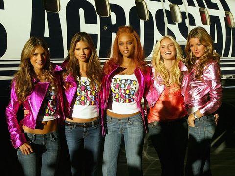 Alessandra Ambrosio, Adriana Lima, Tyra Banks, Heidi Klum dan Gisele Bundchen jelang fashion show Victoria's Secret.