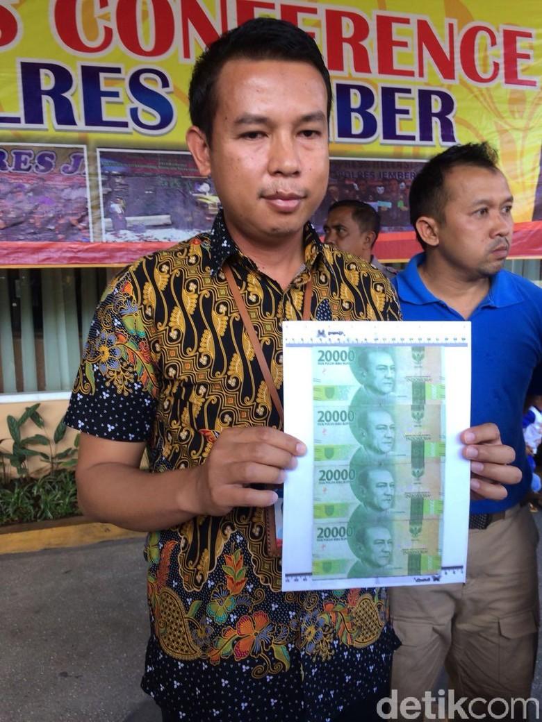 Polres Jember Tangkap Pembuat dan Pengedar Upal Pecahan Rp 20 ribu