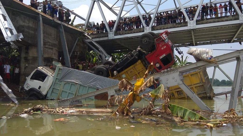 Perbaikan Jembatan Babat yang Ambrol Dikebut Sebelum Lebaran