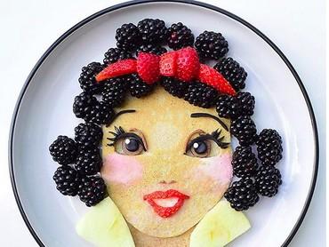 Kalau tampilannya gini, anak-anak dijamin mau deh makan buah. Lihat deh, Snow White-nya cantik banget kan, Bun? (Foto: Instagram/ @jacobs_food_diaries)