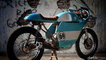 Gibran Rakabuming Modif Motornya Jadi Cafe Racer