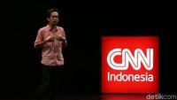 Untuk pertama kalinya CNN Indonesia menggelar pentas monolog di Teater Kecil, Taman Ismail Marzuki, Selasa (17/4/2018). Foto: Aan Mansyur / Hanif Hawari