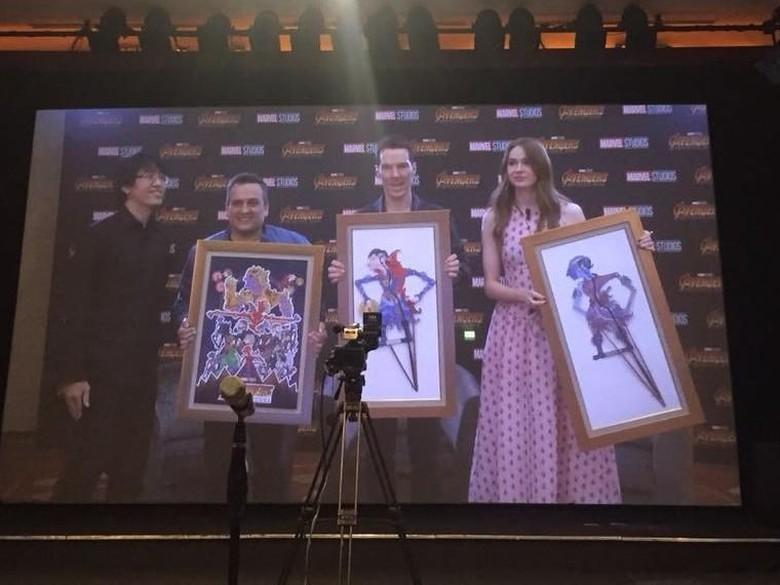 Ini Bedanya Wayang Kulit Avengers Versi Indonesia dan Malaysia Foto: Istimewa