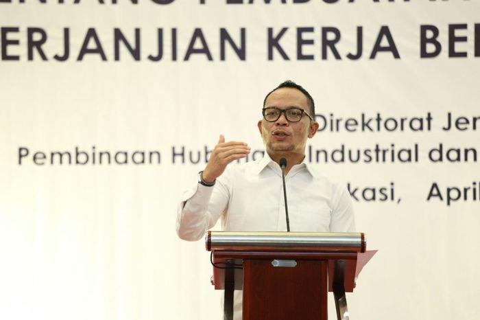 Menaker Hanif Dhakiri di Bekasi (Dok. Kemnaker)