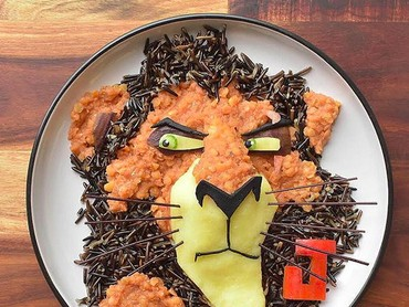 Masih ingat nggak, Bun, ini siapa? Yap, ini Scar, paman Simba di film Lion King. (Foto: Instagram/ @jacobs_food_diaries)