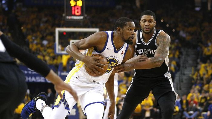 Golden State Warriors kalahkan San Antonio Spurs di gim kedua playoff NBA 2018 (Cary Edmondson-USA TODAY Sports)