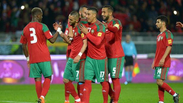 Timnas Maroko bisa menang tipis atas Iran. (REUTERS/Ints Kalnins)