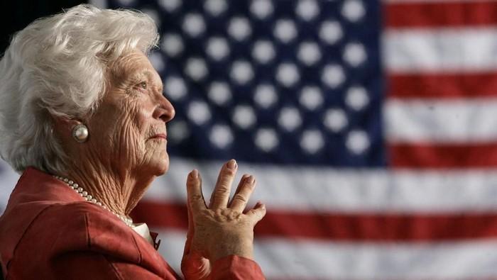 Barbara Bush, istri dari mantan presiden AS George Bush meninggal dunia. Foto: Dok. REUTERS/Jason Reed/File Photo