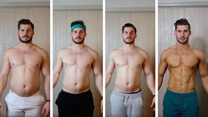 Lihat perubahan perut Hobbs dari waktu ke waktu. Menakjubkan! (Foto: Facebook)