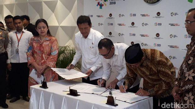 Tiga menteri  Kabinet Kerja teken SKB terkait penambahan cuti bersama Lebaran