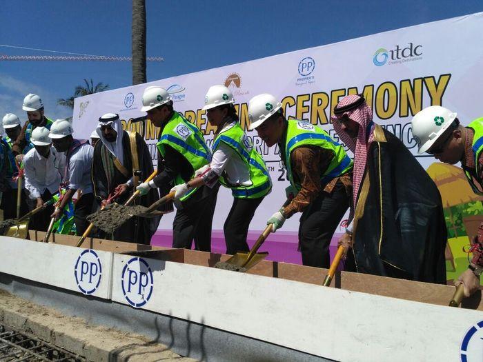 Proyek ini dibangun oleh PT PP (Persero) Tbk melalui anak usahanya PT PP Properti Tbk yang bekerja sama dengan EBD Paragon, dan dibangun di atas lahan seluas 7,65 hektar. Pool/Humas Kementerian BUMN.
