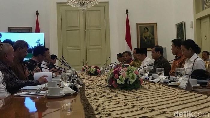 Suasana ratas Asian Games di Istana Bogor (Ray Jordan/detikcom)