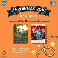Sosialisasi nobar film 'Dilan' dan 'Yowis Ben' di Hardiknas.