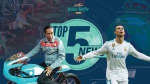 Jokowi ala Dilan di IIMS 2018, Ronaldo Selamatkan Madrid