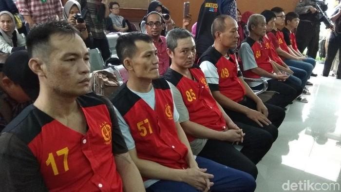 Para penyelundup 1 ton sabu yang dihukum mati tapi belum dieksekusi mati (yuilda/detikcom)