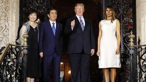 Gaya Donald Trump dan Melania Dinner Bareng PM Jepang