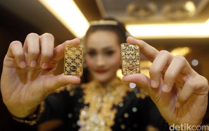 Keren Ada Emas Batangan Motif Batik
