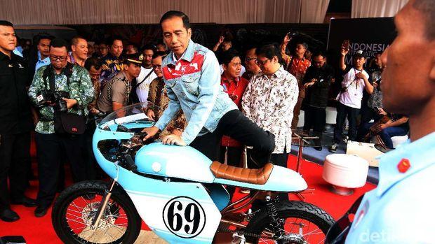 Motor Cafe Racer milik anak Jokowi