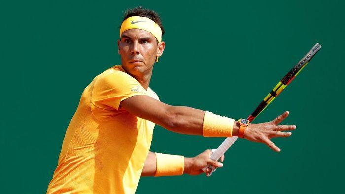 Rafael Nadal memenangi laga pertamanya di Monte Carlo Masters 2018. (Foto: Eric Gaillard/Reuters)