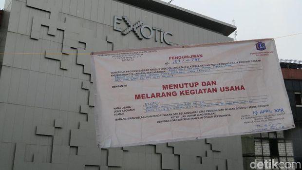 Diskotek Exotic resmi ditutup.