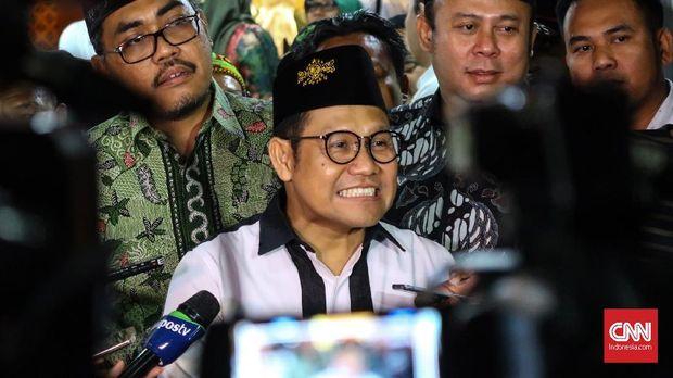 Ketua Umum PKB Muhaimin Iskandar alias Cak Imin, di kompleks parlemen, Jakarta, Kamis (18/4).