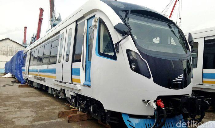 Kereta LRT ini akan dipakai untuk uji coba sebelum resmi beroperasi saat Asian Games.
