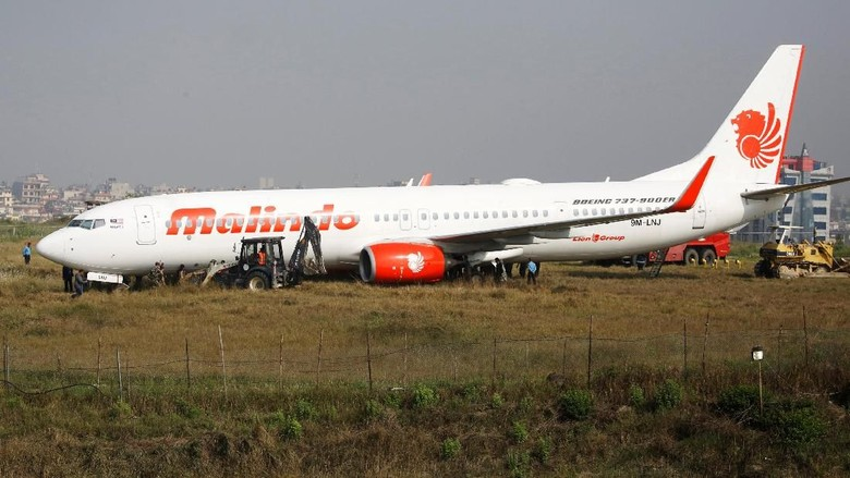 Malindo Air Tergelincir Saat Lepas Landas, Bandara Nepal Ditutup