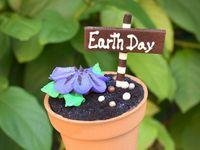 Cupcakes yang dijadikan perayaan Hari Bumi, Disney World.
