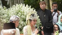 Pernikahan tersebut digelar dengan konsep garden party. Foto: Pernikahan Syahnaz (Noel/detikHOT)