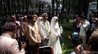 Jeje begitu gagah. Foto: Pernikahan Syahnaz (Asep/detikHOT)