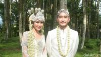 Pernikahan itu digelar di Pine Hills, Bandung, Jawa Barat. Foto: Pernikahan Syahnaz (Noel/detikHOT)