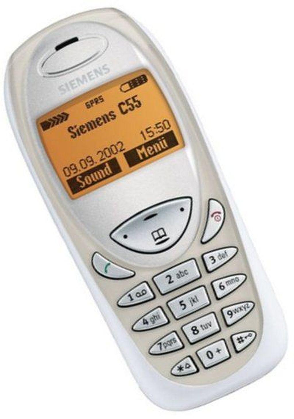 Salah satu ponsel favorit di masa kejayaan Siemens. Rilis tahun 2002, ini adalah Siemens C55. (istimewa/phonearena)