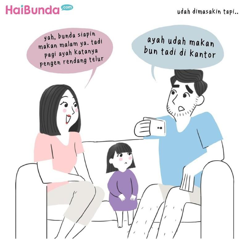 Hal-hal berikut bikin bunda di komik ini kesal sama ayah.Nah,Bunda sendiri paling kesal kalau Ayah kenapa atau ngapain, Bun? Yuk ceritain di kolom komentar.