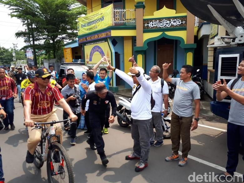 Milad Ke-20 PKS, Sohibul dan Prabowo Gowes Bareng